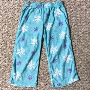 Disney flannel pj pants Frozen sz 4